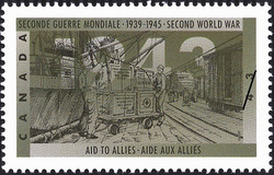 Aid to Allies Canada Postage Stamp | The Second World War, 1943, The Tide Begins to Turn