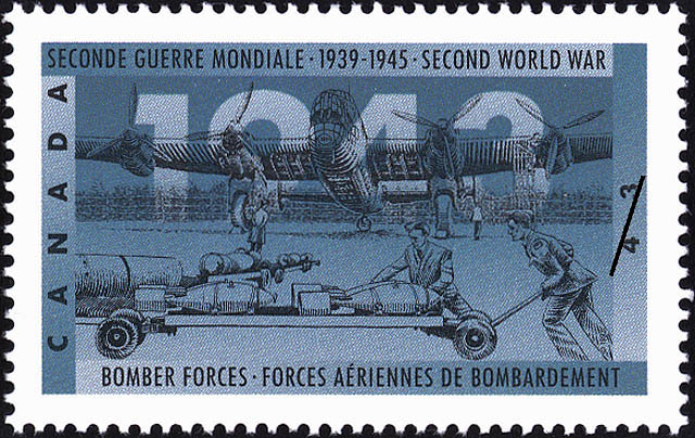Bomber Forces Canada Postage Stamp | The Second World War, 1943, The Tide Begins to Turn