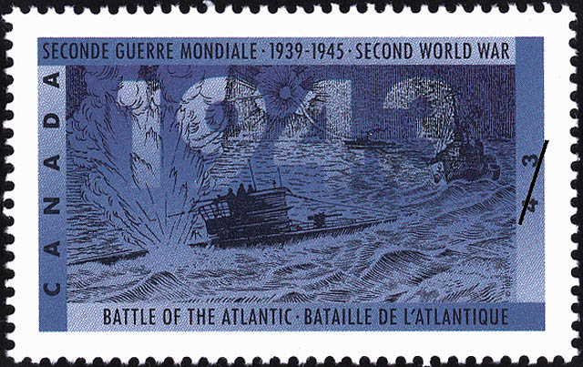 Battle of the Atlantic Canada Postage Stamp | The Second World War, 1943, The Tide Begins to Turn