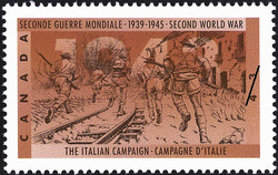 The Italian Campaign Canada Postage Stamp | The Second World War, 1943, The Tide Begins to Turn