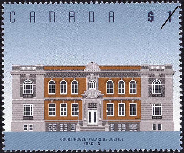 Court House, Yorkton Canada Postage Stamp | Architecture