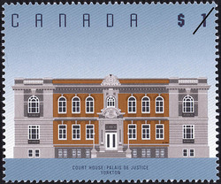 Court House, Yorkton Canada Postage Stamp | Architecture
