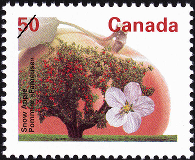 Snow Apple Canada Postage Stamp