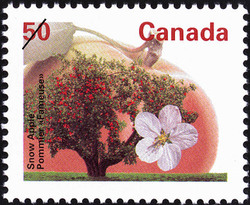 Snow Apple Canada Postage Stamp | Fruit Trees