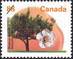 Westcot Apricot Canada Postage Stamp | Fruit Trees