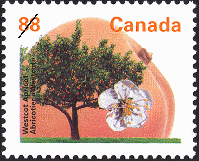 Westcot Apricot Canada Postage Stamp