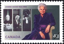 Jeanne Sauve, 1922-1993 Canada Postage Stamp