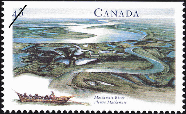 Mackenzie River Canada Postage Stamp | Canada's River Heritage, Routes of the Fur Traders
