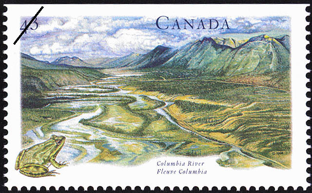 Columbia River Canada Postage Stamp | Canada's River Heritage, Routes of the Fur Traders
