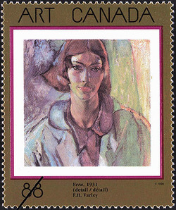 Vera (detail), F.H. Varley, 1931 Canada Postage Stamp | Masterpieces of Canadian Art