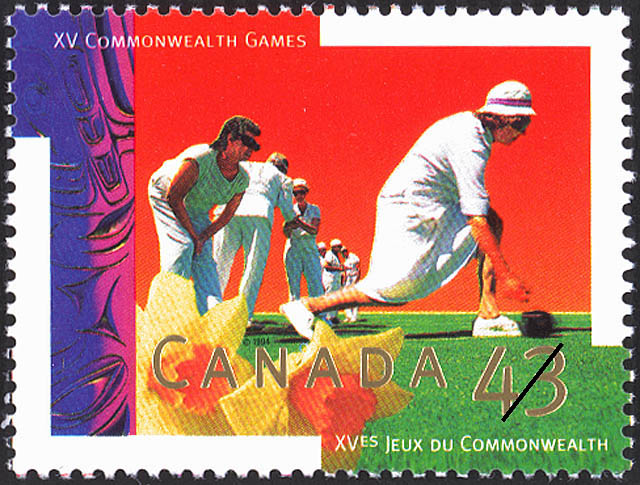 Lawn Bowls Canada Postage Stamp | XV Commonwealth Games
