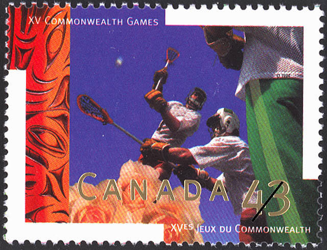 Lacrosse Canada Postage Stamp | XV Commonwealth Games