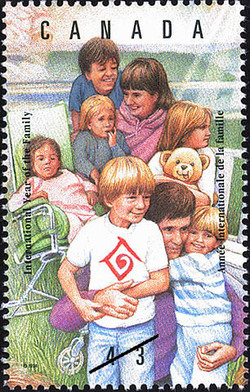 Family or School Outing Canada Postage Stamp | International Year of the Family