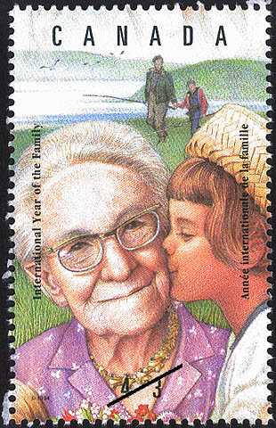 Bond Between Generations Canada Postage Stamp | International Year of the Family