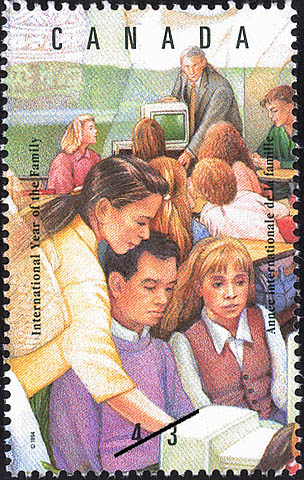 Importance of the Educational System Canada Postage Stamp | International Year of the Family