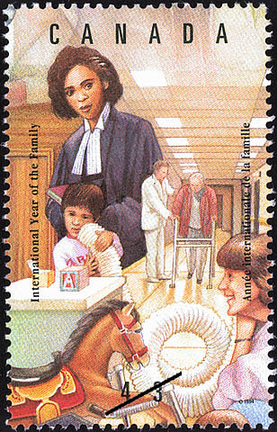 Extended Social Family Canada Postage Stamp | International Year of the Family