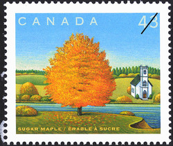 Sugar Maple Canada Postage Stamp