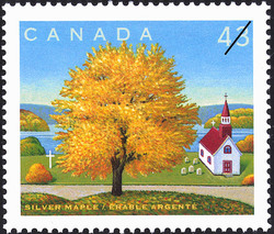 Silver Maple Canada Postage Stamp