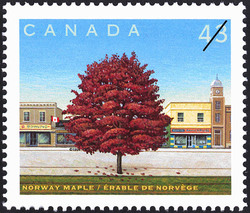 Norway Maple Canada Postage Stamp