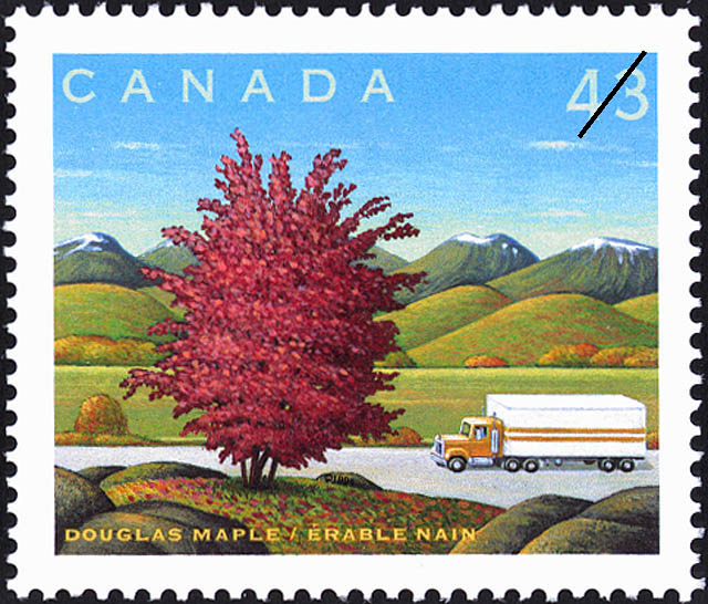 Douglas Maple Canada Postage Stamp