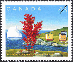 Mountain Maple Canada Postage Stamp