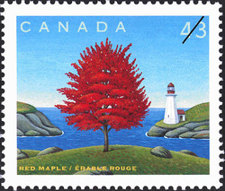 Red Maple Canada Postage Stamp
