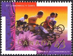 Wheelchair Marathon Canada Postage Stamp | XV Commonwealth Games
