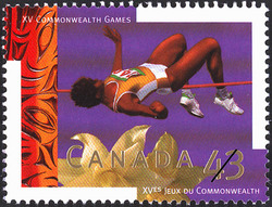 High Jump Canada Postage Stamp | XV Commonwealth Games