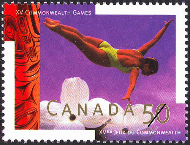 Diving Canada Postage Stamp | XV Commonwealth Games