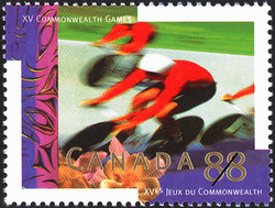 Cycling Canada Postage Stamp | XV Commonwealth Games