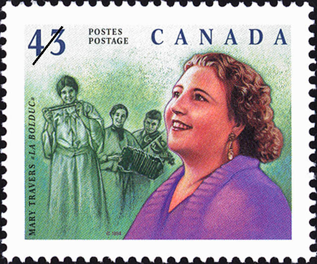 Mary Travers, « La Bolduc » Canada Postage Stamp | Great Canadians