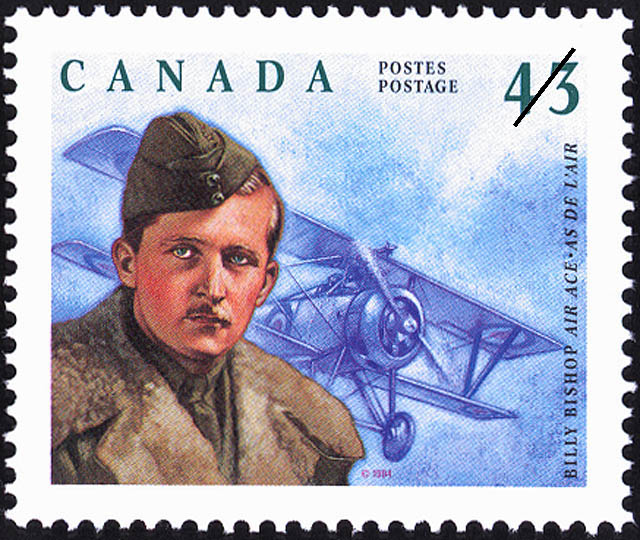 Billy Bishop, Air Ace Canada Postage Stamp