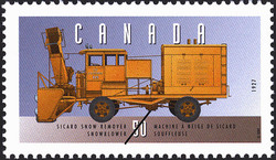 Sicard Snow Remover Snowblower - 1927 Canada Postage Stamp | Historic Land Vehicles, Public Service Vehicles