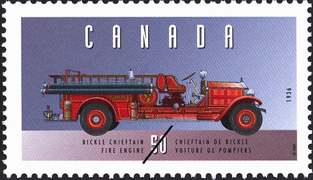 Bickle Chieftain, 1936, Fire Engine Canada Postage Stamp