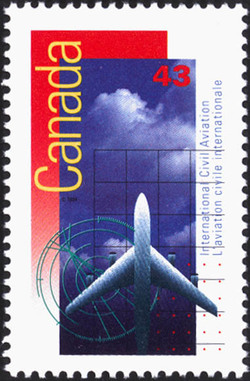 International Civil Aviation Canada Postage Stamp