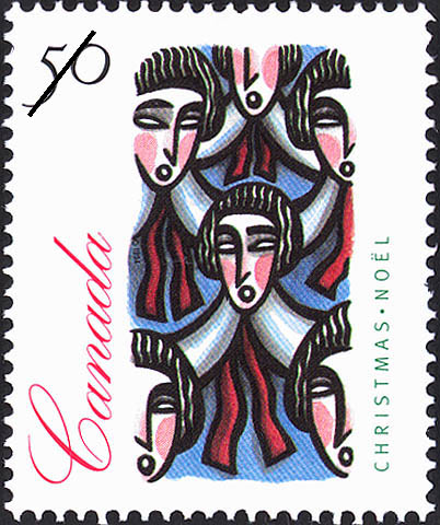 Traditional Choir Group Canada Postage Stamp | Christmas