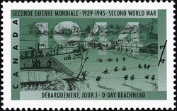 D-Day Beachhead Canada Postage Stamp | The Second World War, 1944, Victory in Sight