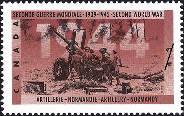 Artillery - Normandy Canada Postage Stamp | The Second World War, 1944, Victory in Sight