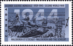 Walcheren and the Scheldt Canada Postage Stamp   The Second World War, 1944, Victory in Sight