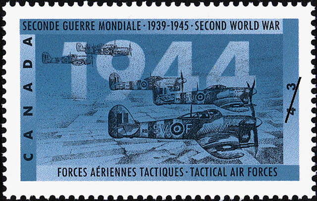 Tactical Air Forces Canada Postage Stamp | The Second World War, 1944, Victory in Sight