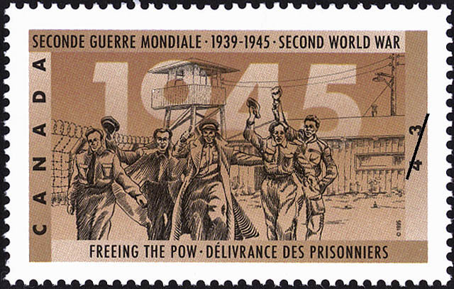 Freeing the POW Canada Postage Stamp | The Second World War, 1945, Peace