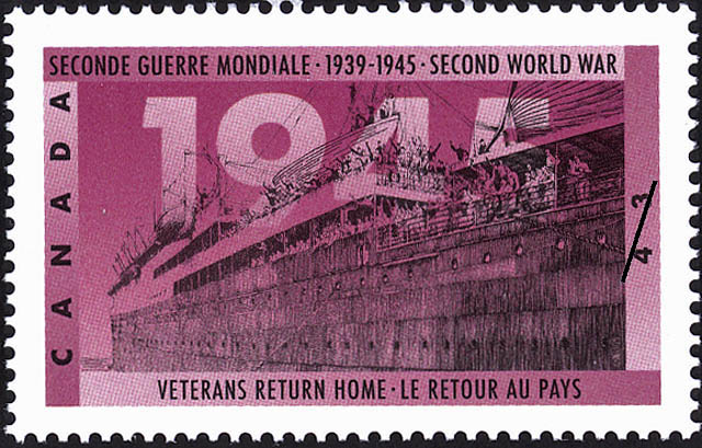 Veterans Return Home Canada Postage Stamp | The Second World War, 1945, Peace