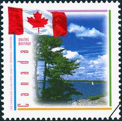 The Canadian Flag, 1965-1995 Canada Postage Stamp