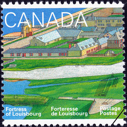 18th Century Louisbourg Canada Postage Stamp | Fortress of Louisbourg