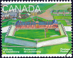 The King's Bastion Canada Postage Stamp | Fortress of Louisbourg