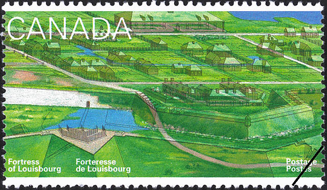 The King's Garden, Convent, Hospital, and British Barracks Canada Postage Stamp