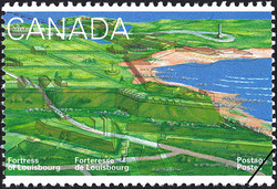 The Fortifications and Ruins Fronting the Sea and Rochfort Point Canada Postage Stamp | Fortress of Louisbourg