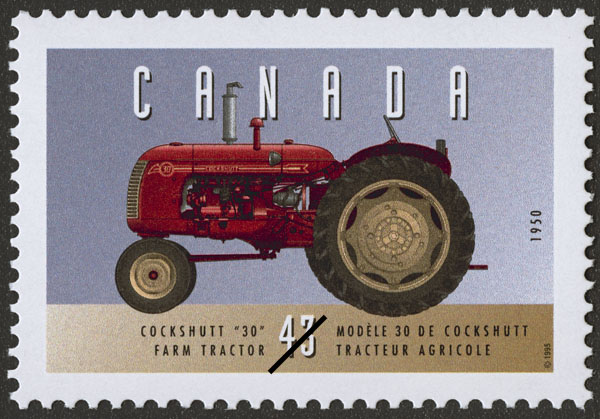"""Cockshutt """"30"""", 1950, Farm Tractor Canada Postage Stamp   Historic Land Vehicles, Farm and Frontier Vehicles"""