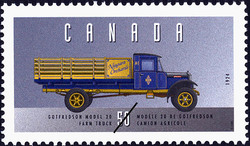 Gotfredson Model 20, 1924, Farm Truck Canada Postage Stamp | Historic Land Vehicles, Farm and Frontier Vehicles