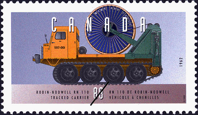 Robin-Nodwell RN 110, 1962, Tracked Carrier Canada Postage Stamp | Historic Land Vehicles, Farm and Frontier Vehicles